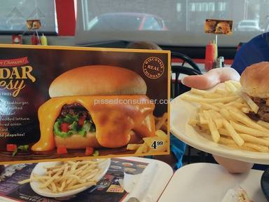 Steak N Shake - False Advertising on New Cheddar Cheesy