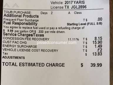 Rentalcars - Misleading/false prices