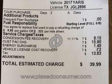 Rentalcars - Misleading/false prices