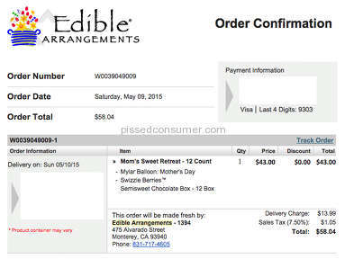 Edible Arrangements - Nothing Delivered