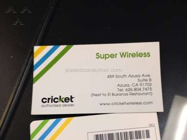 Cricket Wireless Sim Card Review from Hercules, California