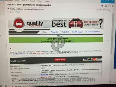 Quality Auto Parts Bumper review 246768