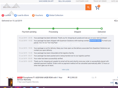 Lazada Philippines - POOR IN ALL ASPECT - CUSTOMER SERVICE AND DELIVERY