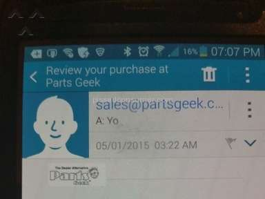 Partsgeek - Coupon Review from Humble, Texas