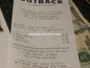 Outback Steakhouse - Manager insulted me when she called me concerning a compliant