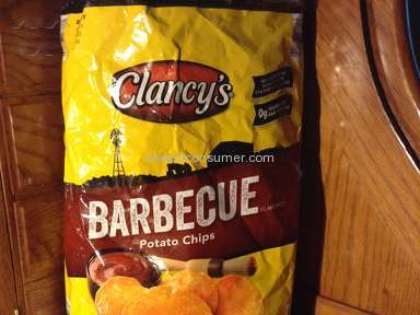 Clancys Chips - Small stone in my Barbecue chips