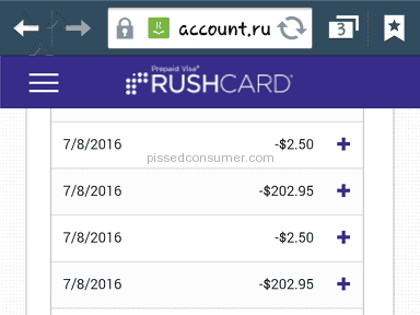 Rushcard Prepaid Card review 148496