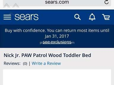 NEVER WILL BUY ANYTHING FROM SEARS AGAIN.