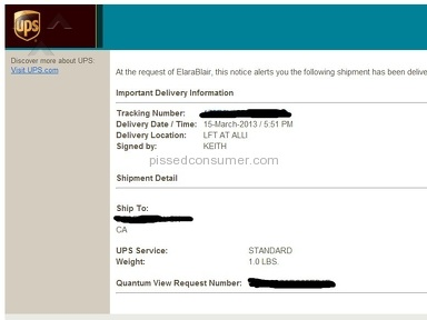 Ups Shipping review 12762