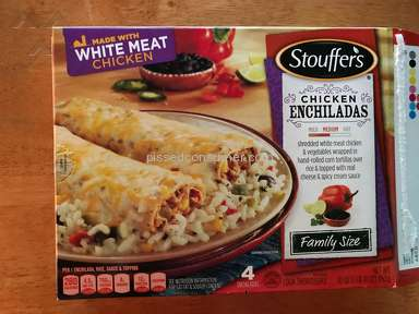 Stouffers - Stouffer's chicken enchiladas--almost no chicken!