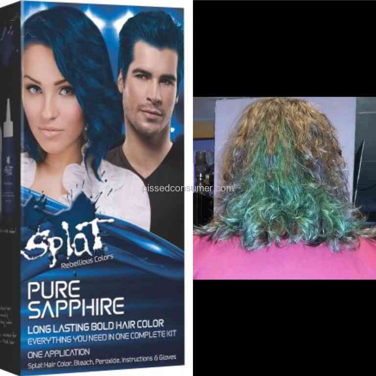 5 Splat Hair Color Pure Sapphire Hair Dye Reviews And Complaints