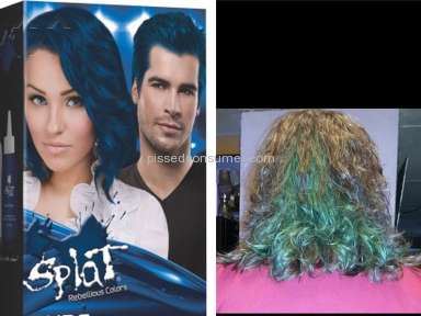 Splat Hair Color - Sapphire blue comes out blue