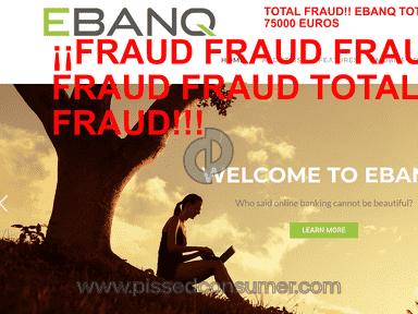 Banking4bankers.com & Ebanq.com / SCAM / FRAUD / BEWARE! REVIEWS