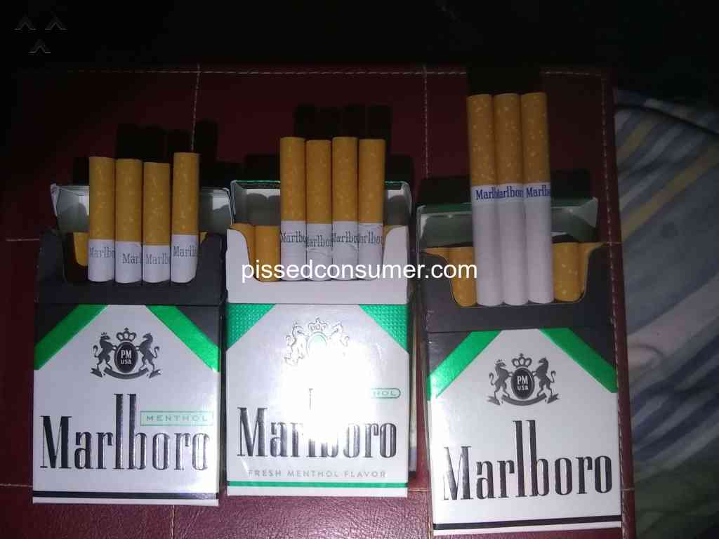 Marlboro - Wrong cigarettes in pack Mar 16, 2019 @ Pissed