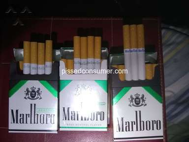 Marlboro - Wrong cigarettes in pack