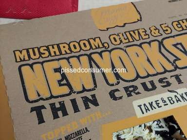 Aldi Grocery - Mama Cozzi's Mushroom/Olive Pizza-No Sauce?