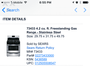 Sears Delivery Service review 179066