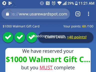 National Consumer Center - Just want my $1000 Gift Card to Amazon or Walmart