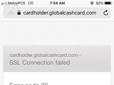 Global Cash Card - Can't access my account