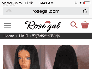Rosegal Wig review 216958