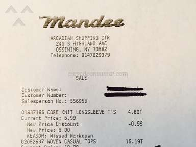 Mandee Footwear and Clothing review 50773