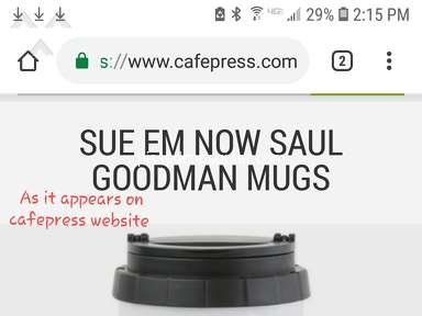 CafePress - FALSE ADVERTISING compared to website pics