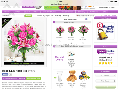 Prestige Flowers Flowers review 118889