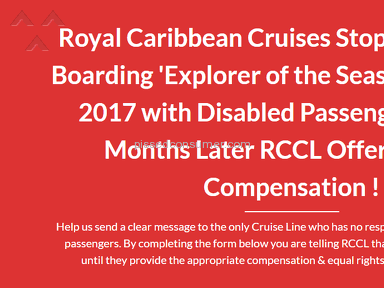 Royal Caribbean Cruises - Passengers Call for Class Action