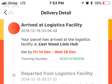 Lazada Philippines - Not delivered
