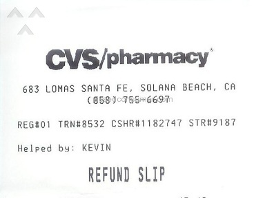 "CVS Pharmacy - NOTICE: ""Purchases over $40 on debit cards are literally UNREFUNDABLE"""