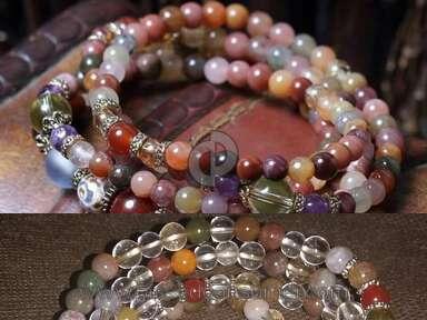 Mindyana Buddhist Crystal Quartz Mala Bracelet review 162530