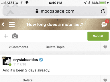 MocoSpace - You keep muting my profile, been a member since 2012