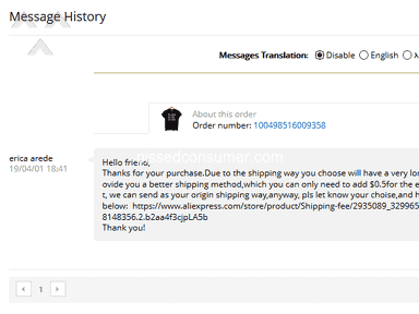 Aliexpress Shipping Service review 382328