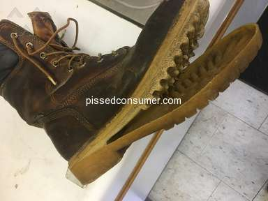 Timberland boot sole came apart