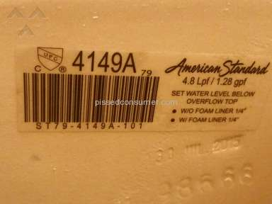 American Standard - Tank replacement issues/ No warranty service!!!!!