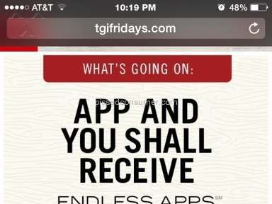 Tgi Fridays - Would not honor advertised special
