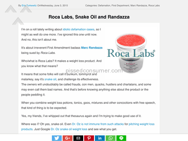 Roca Labs Gastric Bypass Alternative Weight Loss Program review 219766