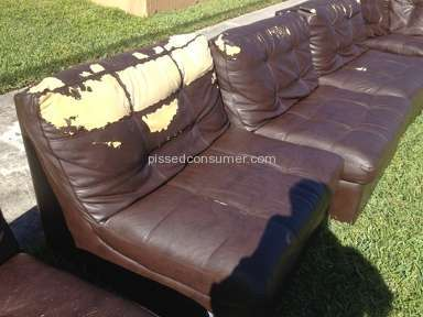 City Furniture - Lies about leather couch sold.  Bonded and cheap.