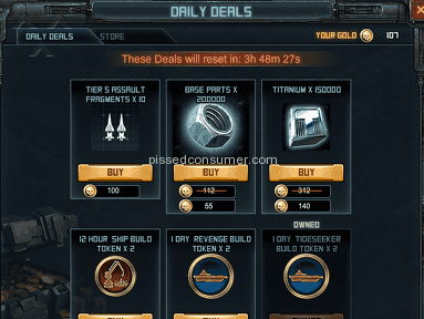 Kixeye - Bad advertizing on shop to buy tokens