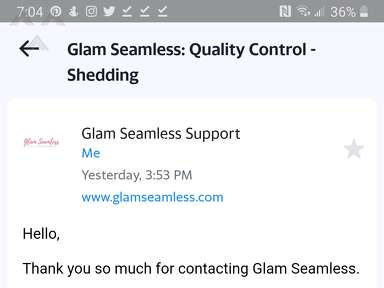 Glam Seamless Human Hair Extension review 607921