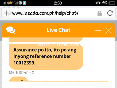 Lazada Philippines Customer Care review 280330