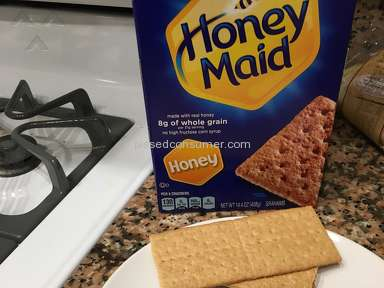 Honey Maid - Big brown stuff with a shoe mark ingrained in my cracker