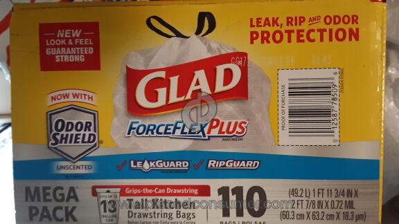 Glad Forceflex Plus Tall Kitchen Drawstring Trash Bag