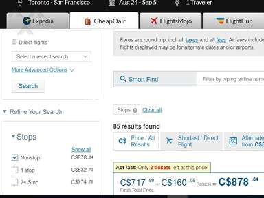 Priceline Flight Booking review 322288