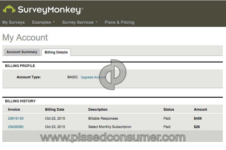 SurveyMonkey - Survey Monkey Are Some Crooks And Cowards! Apr 07