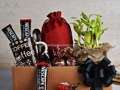 Indian Gifts Portal Good Luck Plant With Coffee And Truffle Chocolates Gift Basket review 124871
