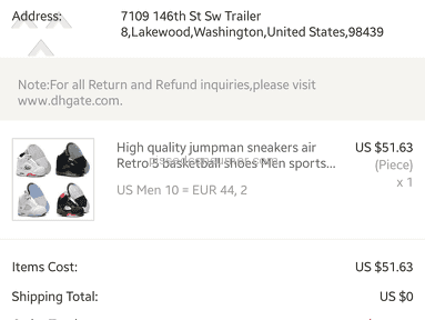 Dhgate Delivery Service review 222300