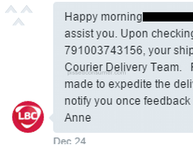 Lbc Express Customer Care review 105603