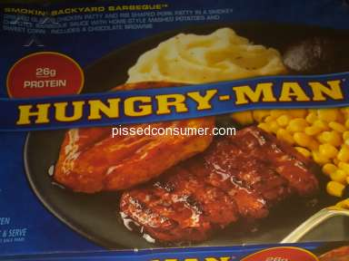 Hungry Man Frozen Dinners - Smokin' backyard barbeque