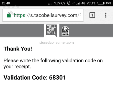 Taco Bell - Customer Care Review